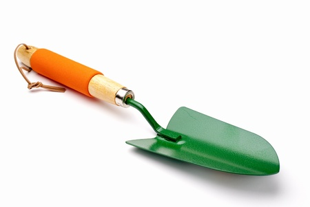 spades: garden shovel on a white background Stock Photo