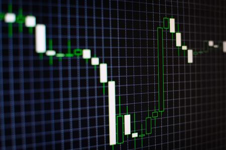 başarısız: Nedeniyle ekonomik krize bir iş başarısız performans ve kayıpları ya da pazarlama hatası gösteren bir azalma eğilimi ile açılı fluxtuating çubuk grafiğin Kurumsal arka plan