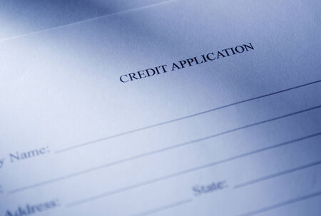 emphasizing: Close up Blank White Credit Application Form, Emphasizing the Heading Part, ready for Fill up.