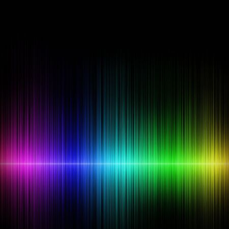 sine wave: blue pink yellow horizontal sound waves on a dark background