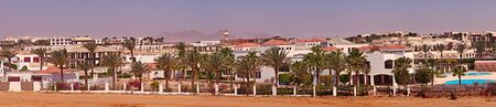 sharm el sheikh: Panorama Hotels and the palm trees of Sharm el Sheikh, Egypt. Stock Photo