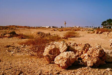 rugged terrain: Rocky desert, the Sinai Peninsula, Egypt on a sunny day Stock Photo