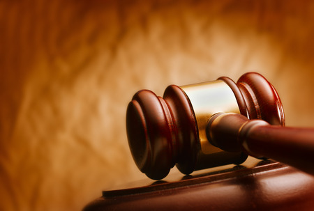 criminal lawyer: Gavel close up. Conceptual image of law and justice.