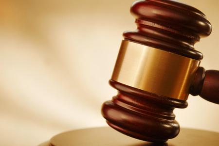 Gavel près. Image conceptuelle du droit et de la justice. Banque d'images