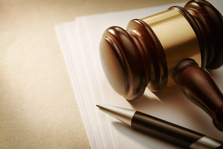 Gavel close up. Conceptual image of law and justice.