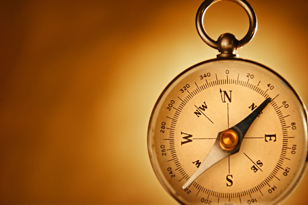 decisionmaking: Compass for choice. Conceptual image for decision-making and about the trips.