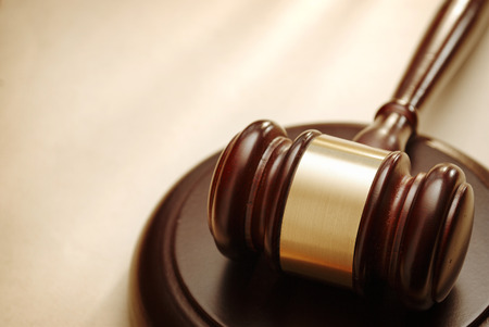 legal court: Gavel close up. Conceptual image of law and justice.