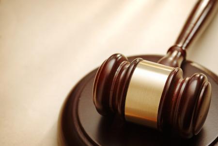 DERECHO: Mazo de cerca. Imagen conceptual de la ley y la justicia.