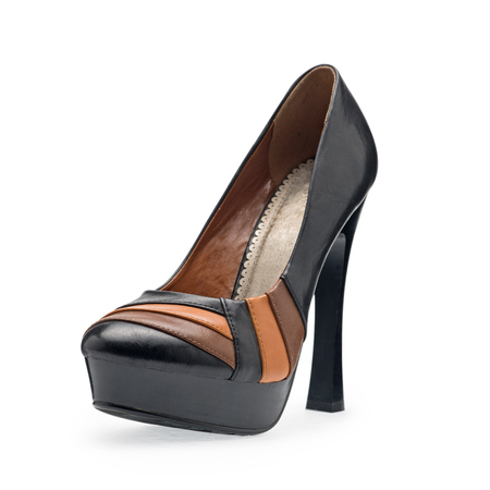 opentoe: The one of womens shoes black stilettos with a decorative belt on a white background