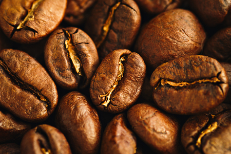 Roasted coffee beans, can be used as a background Stock Photo