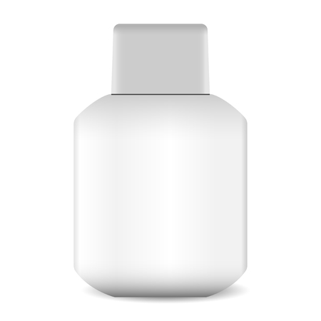 Aftershave lotion or balm bottle eps10 illustration. Cosmetics pachage for liquid.
