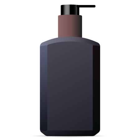 Hand and body wash men cosmetics bottle mockup. luxury brand design package. 3d Vector illustration.