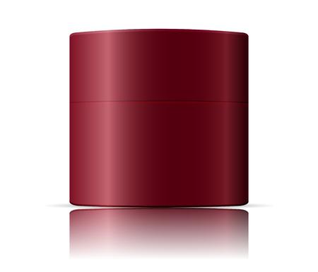 Cosmetics jar mockup template. Vector illustration of packaging for cream, base, powder, salt.
