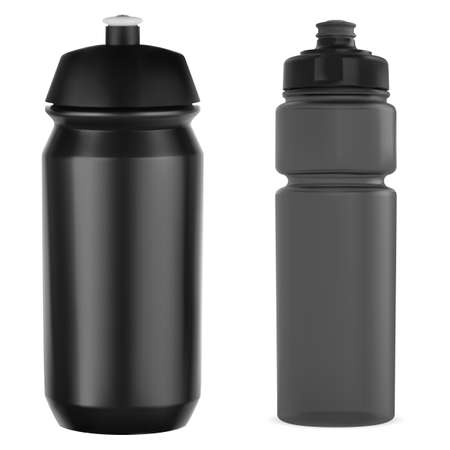 Cycling bottle. sport water bottle mockup, gym can.