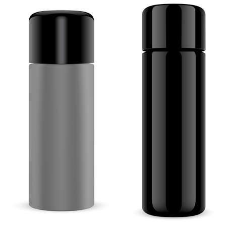 Spray can. Hair spray bottle mockup, aerosol cylinder tube. Aluminum metal paint container. Empty sprayer packaging template blank. Dry shampoo tin, beauty product