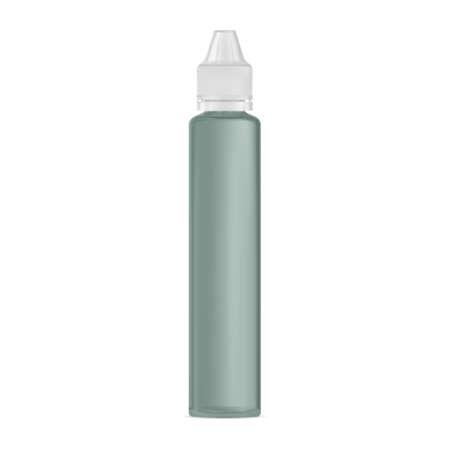 E liquid dropper bottle, vaper juice mockup, plastic flask. Eye serum container, vapor glycerin vial, dripper blank design isolated template. Electronic smoke flavor pack template, glass template Illusztráció
