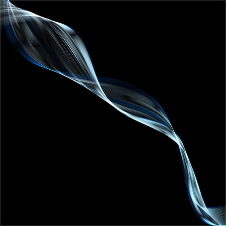 Abstract blue waves on black background