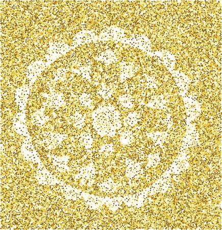 Mandala - circular vector pattern. Round Ornament. gold