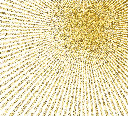 Golden burst background. Vector illustration