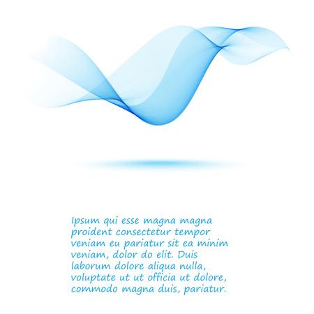 smooth blue abstract wave background flyer design. Illustration