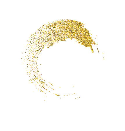 sequins: Vector gold glitter wave abstract background, golden sparkles on white background. Stock Photo