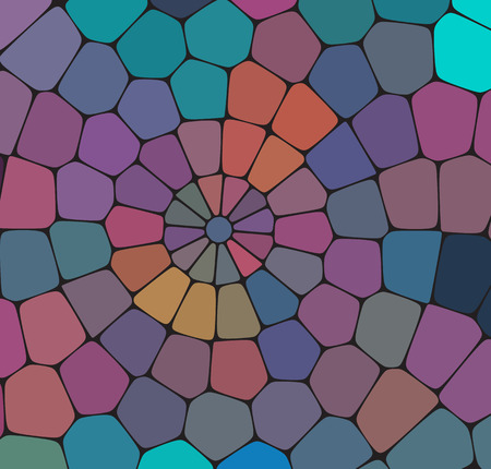 Stone plate paving seamless pattern. Abstract geometric colorful hexagon shapes ornament vector texture.