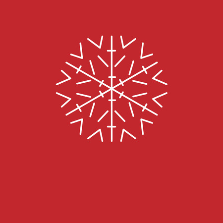 Christmas background. White snowflakes on red background. background for New Year greetings.