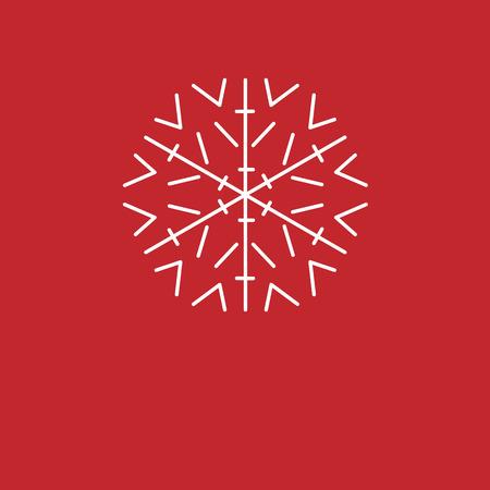 rejoicing: Christmas background. White snowflakes on red background. background for New Year greetings.