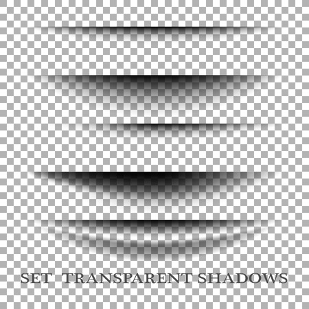 Transparent realistic paper shadow effect set. Web banner. Element for advertising and promotional message isolated on transparent background.