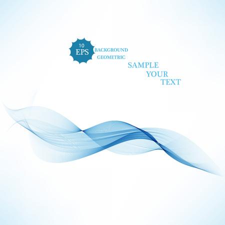 Abstract vector background, transparent waved lines for brochure, website, flyer design. Blue smoke wave.