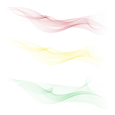 Smooth,clear,beautiful waves set.Wave abstract background. Illustration