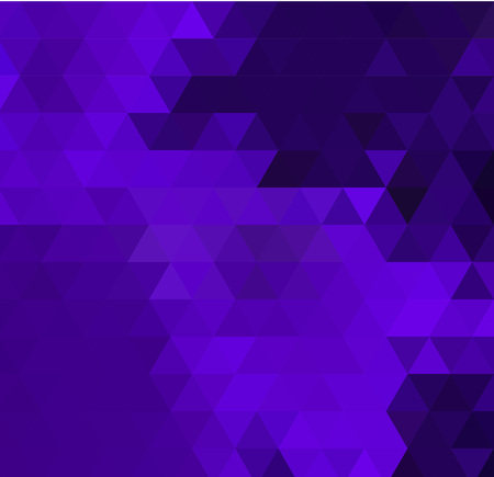 Vector Low poly colorful purple triangles background. Black, violet, white colors.