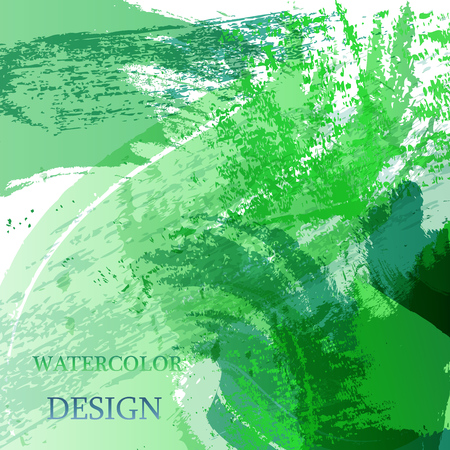 Colorful abstract watercolor texture stain with splashes. Modern creative watercolor background for trendy design. Stock Photo