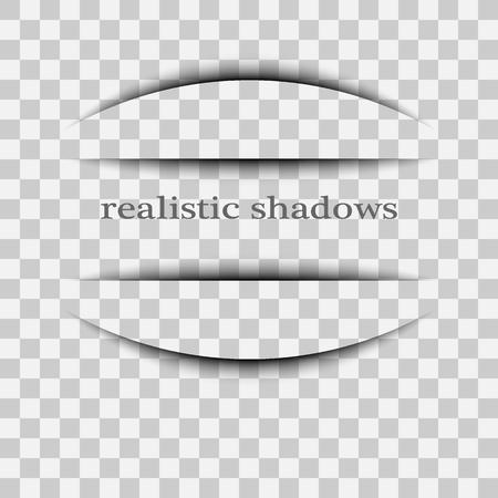 Transparent realistic paper shadow effect set. Web banner.