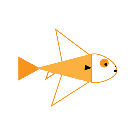 illustration of Cute fish cartoon. Vector icon Stock Photo