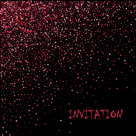 Pink gold glitter. Right gradient with pink gold glitter on black background. Vector illustration.