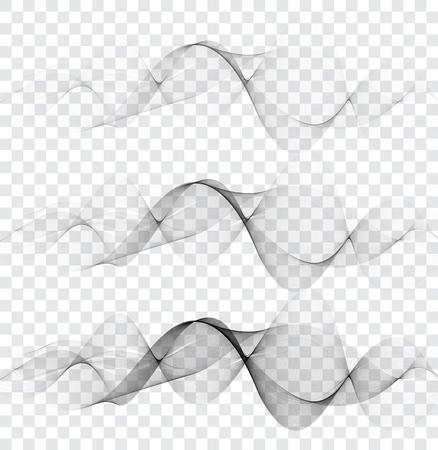 Smooth,clear,beautiful waves set.Wave abstract background. Abstract vector background, transparent waved lines for brochure, website, flyer design.