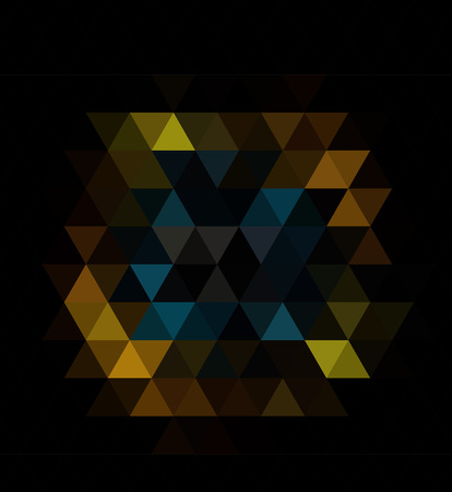 Dark Black vector blurry triangle pattern. Modern geometrical abstract illustration with gradient.