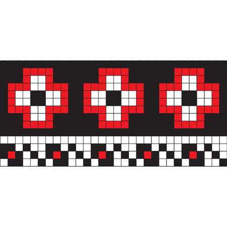 Ukrainian embroidery. Vector pattern with embroidery pattern in old Ukrainian style.