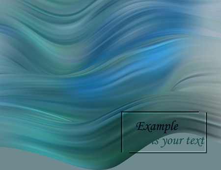 Abstract Color Background. Blue Wavy Fluid Shapes. Trendy Digital Background with Flowing Liquid for Business, Banner, Cover