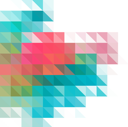 Multicolor geometric triangular low poly style. Gradient background.