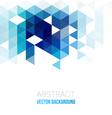 Vector Fondo geométrico abstracto con triángulos. Ilustración vectorial.