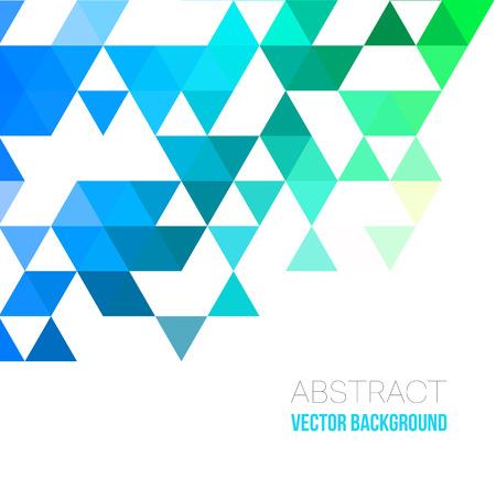 Vector Abstracte geometrische achtergrond met driehoeken. Vectorillustratie voor uw webdesign, bureaubladachtergrond of website. Vector Illustratie