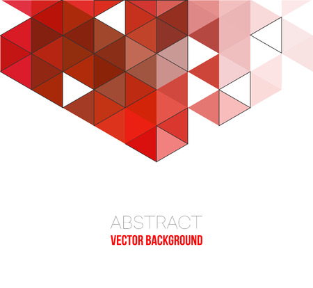 Abstract geometric background with triangles. Vector illustration. Brochure design