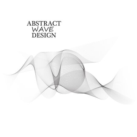 Abstract vector background, gray waved lines for brochure, website, flyer design. Ilustracja
