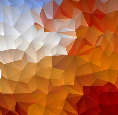 Red orange and blue, abstract triangle geometric colorful background.