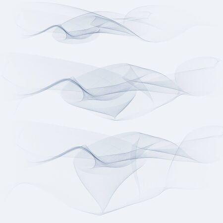 A wave of many gray lines. Abstract wavy stripes on a white background isolated. Creative line art.