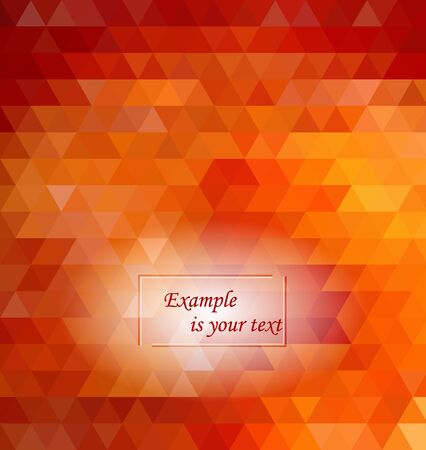 orange geometric pattern, triangles background, polygonal design.Low-poly colorful style. Banque d'images - 140695121