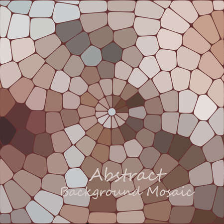 Round pattern of paving slabs. Multi-colored stone mosaic.