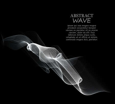 Elegant Wavy Background-Vector Illustration, Graphic Design Useful For Your Design